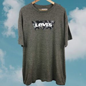 Levi's  LOGO Tropical Leaf  Burnout Soft T Shirt